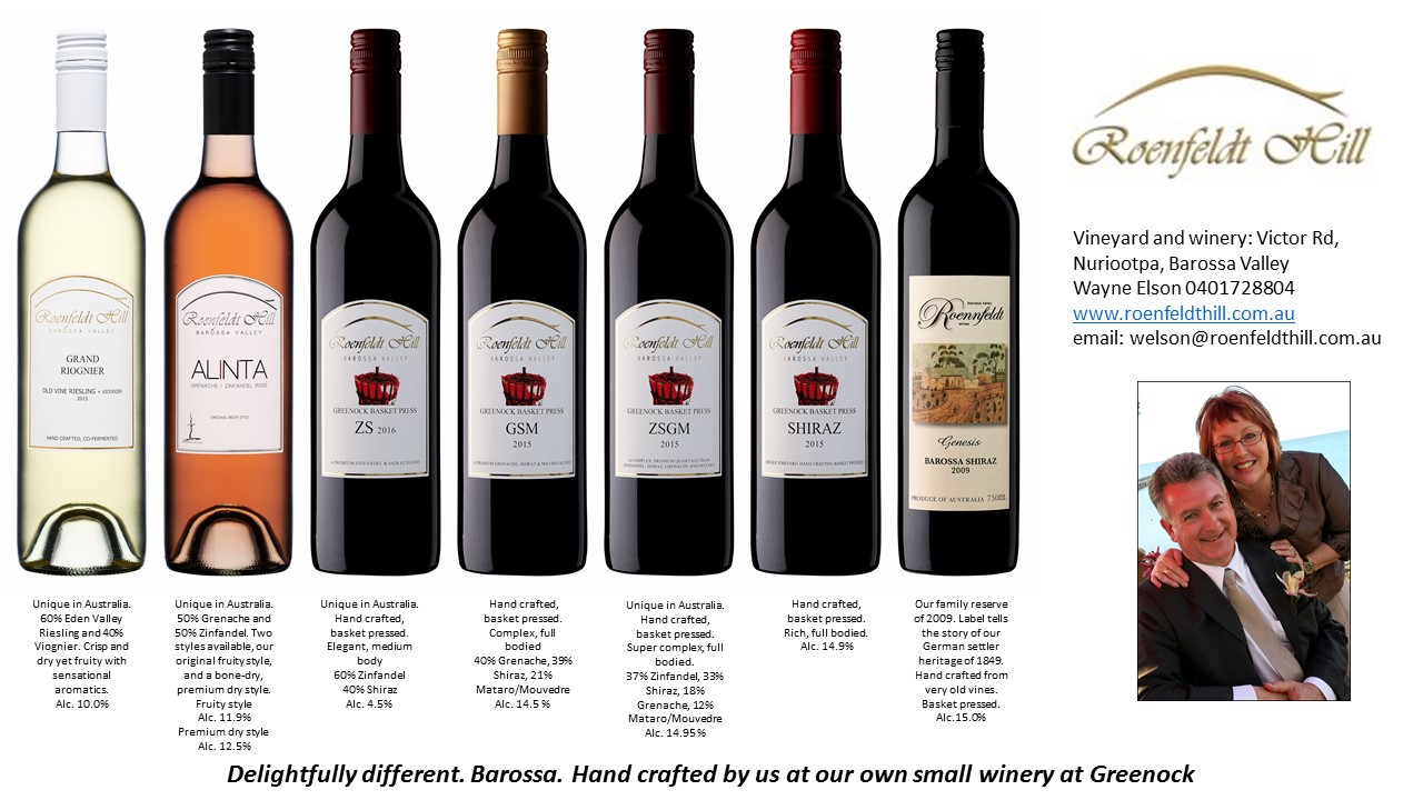 Our Range of Roenfeldt Hill Wines