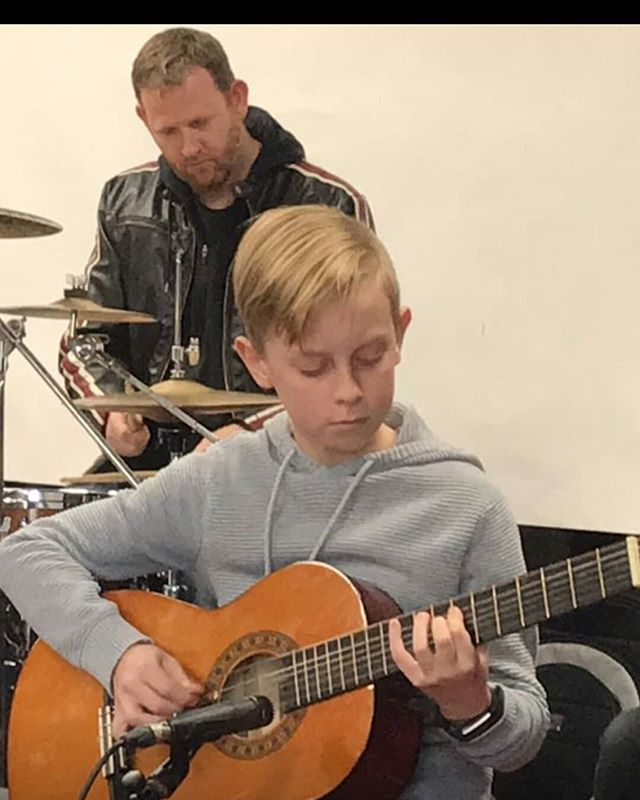 One of the most wonderful things in life is to see your children and grand children grow and develop. Our grandson Judd, performing first time with a band.